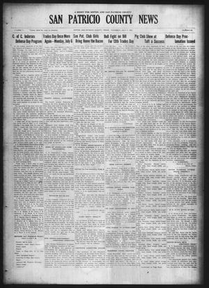 Primary view of object titled 'San Patricio County News (Sinton, Tex.), Vol. 17, No. 22, Ed. 1 Thursday, July 2, 1925'.