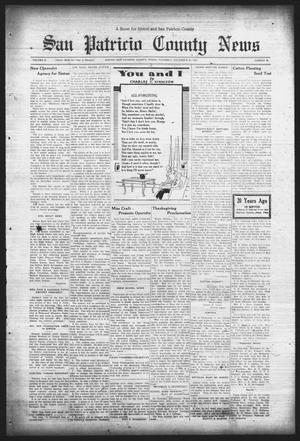 Primary view of object titled 'San Patricio County News (Sinton, Tex.), Vol. 25, No. 46, Ed. 1 Thursday, November 30, 1933'.