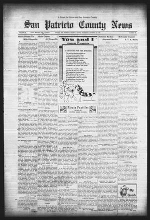 Primary view of object titled 'San Patricio County News (Sinton, Tex.), Vol. 25, No. 39, Ed. 1 Thursday, October 12, 1933'.