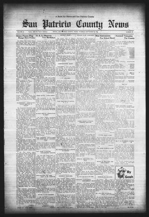 Primary view of object titled 'San Patricio County News (Sinton, Tex.), Vol. 25, No. 37, Ed. 1 Thursday, September 28, 1933'.