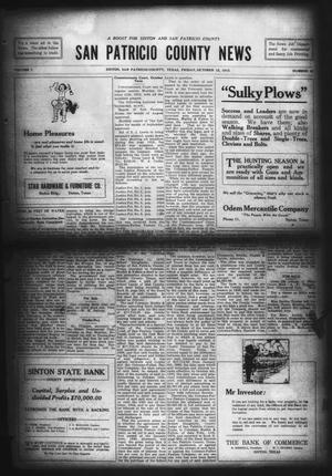 Primary view of object titled 'San Patricio County News (Sinton, Tex.), Vol. 7, No. 35, Ed. 1 Friday, October 15, 1915'.