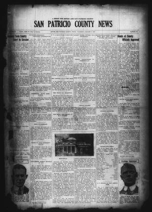 Primary view of object titled 'San Patricio County News (Sinton, Tex.), Vol. 18, No. 49, Ed. 1 Thursday, January 6, 1927'.