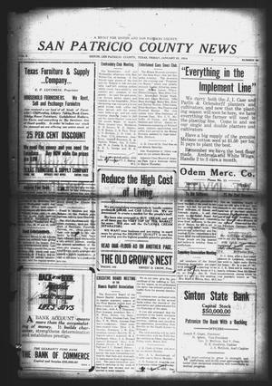 Primary view of object titled 'San Patricio County News (Sinton, Tex.), Vol. 5, No. 49, Ed. 1 Friday, January 23, 1914'.