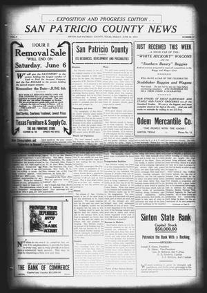 Primary view of object titled 'San Patricio County News (Sinton, Tex.), Vol. 6, No. 17, Ed. 1 Friday, June 12, 1914'.