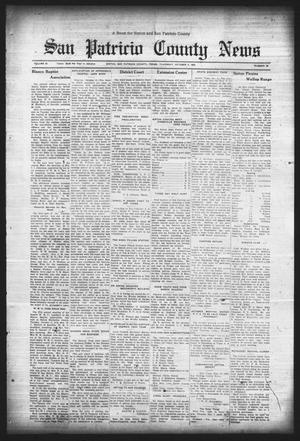 Primary view of object titled 'San Patricio County News (Sinton, Tex.), Vol. 25, No. 38, Ed. 1 Thursday, October 5, 1933'.