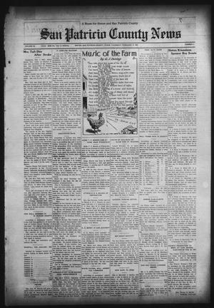 Primary view of object titled 'San Patricio County News (Sinton, Tex.), Vol. 23, No. 3, Ed. 1 Thursday, February 5, 1931'.