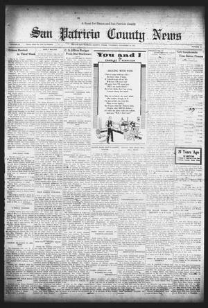 Primary view of object titled 'San Patricio County News (Sinton, Tex.), Vol. 25, No. 44, Ed. 1 Thursday, November 16, 1933'.