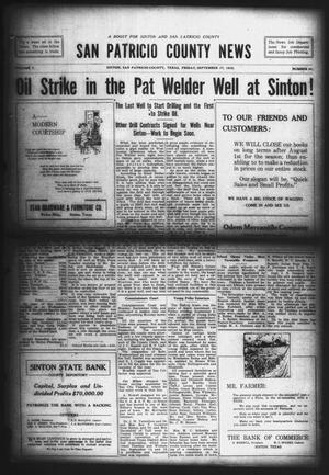 Primary view of object titled 'San Patricio County News (Sinton, Tex.), Vol. 7, No. 31, Ed. 1 Friday, September 17, 1915'.
