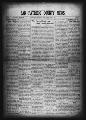 Primary view of object titled 'San Patricio County News (Sinton, Tex.), Vol. 19, No. 6, Ed. 1 Thursday, March 10, 1927'.