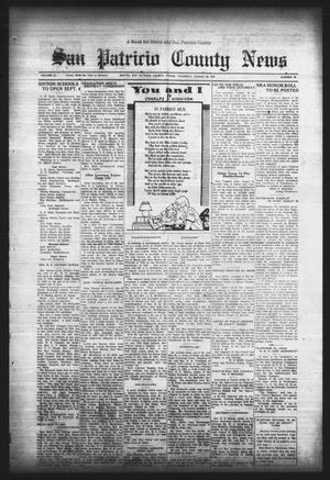 Primary view of object titled 'San Patricio County News (Sinton, Tex.), Vol. 25, No. 32, Ed. 1 Thursday, August 24, 1933'.