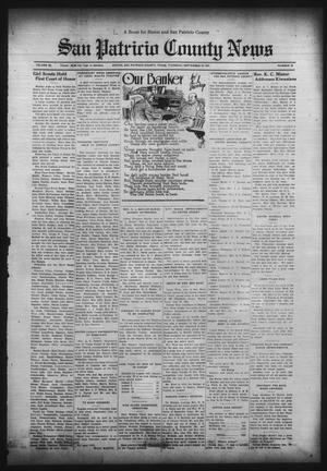 Primary view of object titled 'San Patricio County News (Sinton, Tex.), Vol. 23, No. 34, Ed. 1 Thursday, September 10, 1931'.