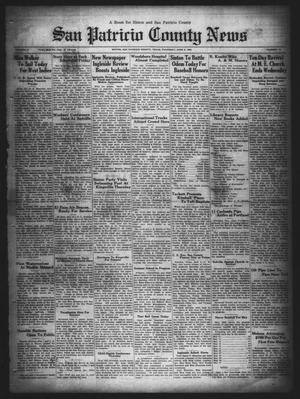 Primary view of object titled 'San Patricio County News (Sinton, Tex.), Vol. 21, No. 19, Ed. 1 Thursday, June 6, 1929'.
