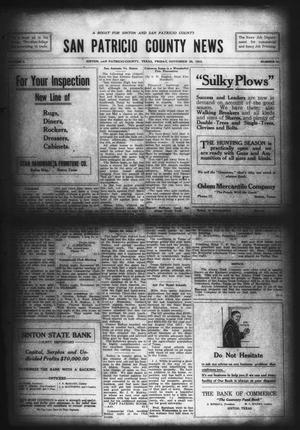 Primary view of object titled 'San Patricio County News (Sinton, Tex.), Vol. 7, No. 41, Ed. 1 Friday, November 26, 1915'.