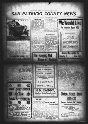Primary view of object titled 'San Patricio County News (Sinton, Tex.), Vol. 5, No. 18, Ed. 1 Friday, June 20, 1913'.