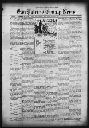 Primary view of object titled 'San Patricio County News (Sinton, Tex.), Vol. 23, No. 43, Ed. 1 Thursday, November 12, 1931'.