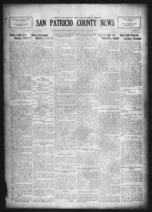 Primary view of object titled 'San Patricio County News (Sinton, Tex.), Vol. 17, No. 4, Ed. 1 Thursday, February 26, 1925'.