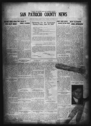 Primary view of object titled 'San Patricio County News (Sinton, Tex.), Vol. 19, No. 34, Ed. 1 Thursday, September 22, 1927'.