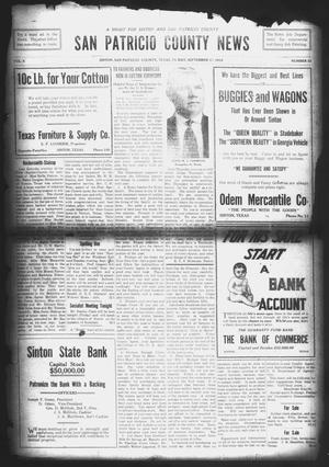 Primary view of object titled 'San Patricio County News (Sinton, Tex.), Vol. 6, No. 32, Ed. 1 Friday, September 25, 1914'.