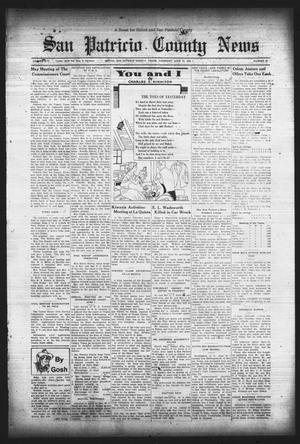 Primary view of object titled 'San Patricio County News (Sinton, Tex.), Vol. 25, No. 22, Ed. 1 Thursday, June 15, 1933'.