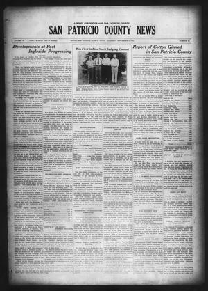 Primary view of object titled 'San Patricio County News (Sinton, Tex.), Vol. 18, No. 32, Ed. 1 Thursday, September 9, 1926'.