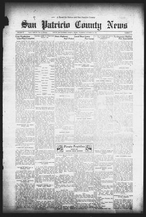 Primary view of object titled 'San Patricio County News (Sinton, Tex.), Vol. 25, No. 41, Ed. 1 Thursday, October 26, 1933'.