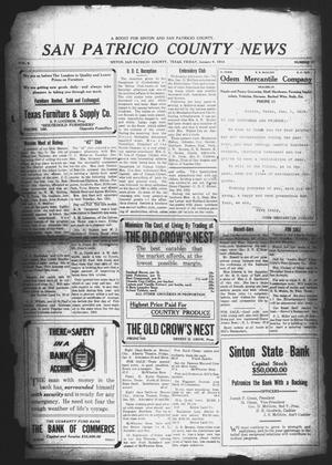 Primary view of object titled 'San Patricio County News (Sinton, Tex.), Vol. 5, No. 47, Ed. 1 Friday, January 9, 1914'.