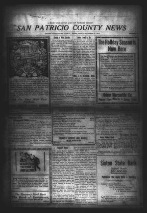 Primary view of object titled 'San Patricio County News (Sinton, Tex.), Vol. 5, No. 43, Ed. 1 Friday, December 12, 1913'.