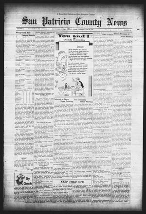 Primary view of object titled 'San Patricio County News (Sinton, Tex.), Vol. 25, No. 23, Ed. 1 Thursday, June 22, 1933'.