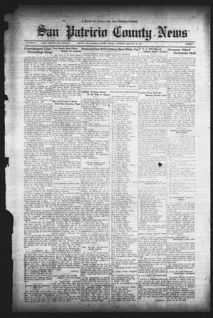 Primary view of object titled 'San Patricio County News (Sinton, Tex.), Vol. 25, No. 1, Ed. 1 Thursday, January 19, 1933'.