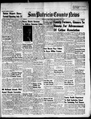 Primary view of object titled 'San Patricio County News (Sinton, Tex.), Vol. 55, No. 28, Ed. 1 Thursday, July 11, 1963'.