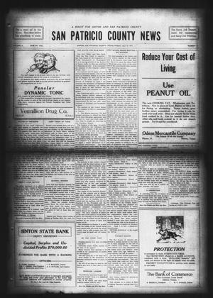 Primary view of object titled 'San Patricio County News (Sinton, Tex.), Vol. 9, No. 21, Ed. 1 Friday, July 6, 1917'.