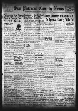 Primary view of object titled 'San Patricio County News (Sinton, Tex.), Vol. 31, No. 22, Ed. 1 Thursday, June 15, 1939'.