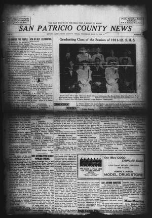 Primary view of object titled 'San Patricio County News (Sinton, Tex.), Vol. 4, No. 14, Ed. 1 Thursday, May 23, 1912'.