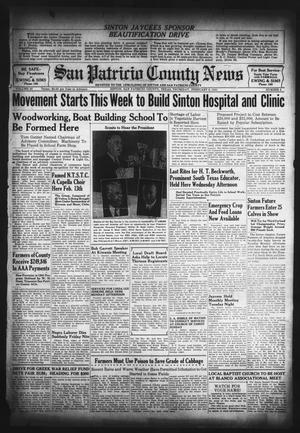 Primary view of object titled 'San Patricio County News (Sinton, Tex.), Vol. 33, No. 4, Ed. 1 Thursday, February 6, 1941'.