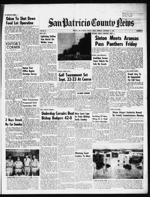Primary view of object titled 'San Patricio County News (Sinton, Tex.), Vol. 54, No. 37, Ed. 1 Thursday, September 13, 1962'.