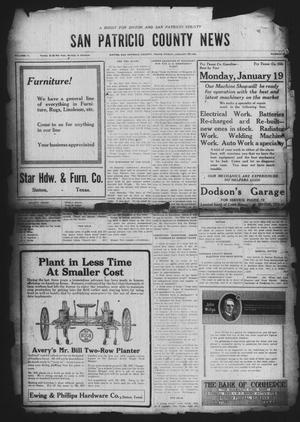 Primary view of object titled 'San Patricio County News (Sinton, Tex.), Vol. 11, No. 50, Ed. 1 Friday, January 23, 1920'.