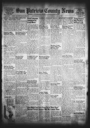 Primary view of object titled 'San Patricio County News (Sinton, Tex.), Vol. 32, No. 15, Ed. 1 Thursday, April 25, 1940'.
