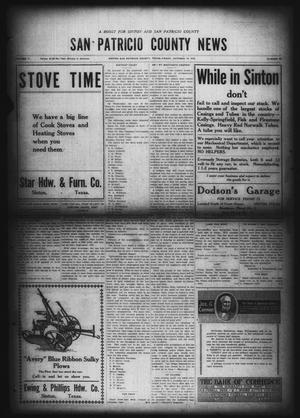 Primary view of object titled 'San Patricio County News (Sinton, Tex.), Vol. 11, No. 35, Ed. 1 Friday, October 10, 1919'.