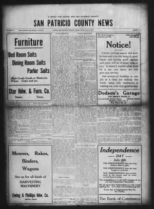 Primary view of object titled 'San Patricio County News (Sinton, Tex.), Vol. 12, No. 21, Ed. 1 Friday, July 2, 1920'.