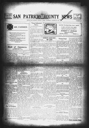Primary view of object titled 'San Patricio County News (Sinton, Tex.), Vol. 3, No. 25, Ed. 1 Thursday, August 10, 1911'.