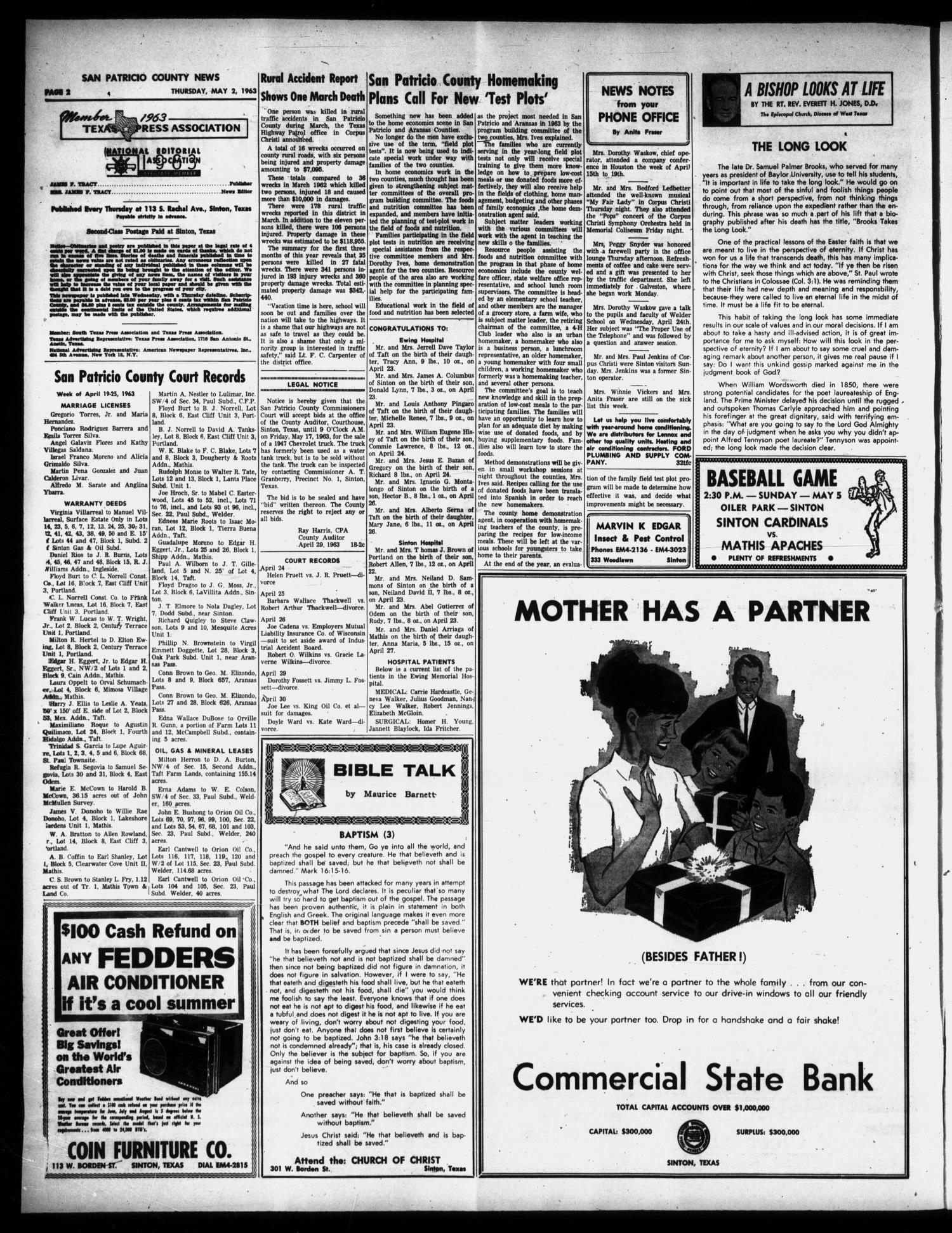 San Patricio County News (Sinton, Tex.), Vol. 55, No. 18, Ed. 1 ...