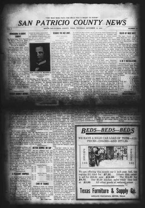 Primary view of object titled 'San Patricio County News (Sinton, Tex.), Vol. 4, No. 30, Ed. 1 Thursday, September 12, 1912'.