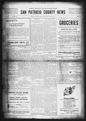 Primary view of object titled 'San Patricio County News (Sinton, Tex.), Vol. 8, No. 48, Ed. 1 Friday, January 12, 1917'.