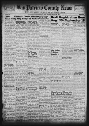 Primary view of object titled 'San Patricio County News (Sinton, Tex.), Vol. 40, No. 34, Ed. 1 Thursday, August 26, 1948'.