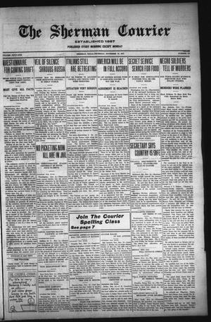 Primary view of The Sherman Courier (Sherman, Tex.), Vol. 51, No. 174, Ed. 1 Thursday, November 15, 1917