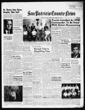 Primary view of object titled 'San Patricio County News (Sinton, Tex.), Vol. 54, No. 27, Ed. 1 Thursday, July 5, 1962'.