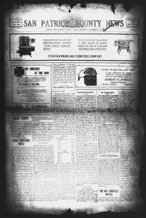 Primary view of object titled 'San Patricio County News (Sinton, Tex.), Vol. 3, No. 33, Ed. 1 Thursday, October 5, 1911'.