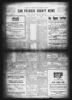 Primary view of object titled 'San Patricio County News (Sinton, Tex.), Vol. 9, No. 35, Ed. 1 Friday, October 12, 1917'.