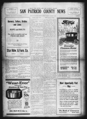 Primary view of object titled 'San Patricio County News (Sinton, Tex.), Vol. 14, No. 35, Ed. 1 Thursday, October 5, 1922'.