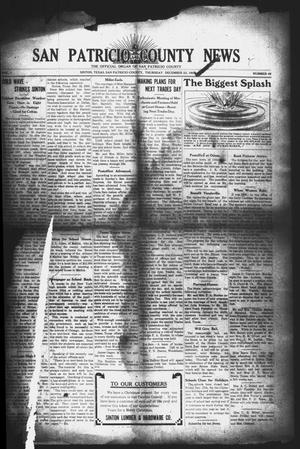 Primary view of object titled 'San Patricio County News (Sinton, Tex.), Vol. 1, No. 46, Ed. 1 Thursday, December 23, 1909'.